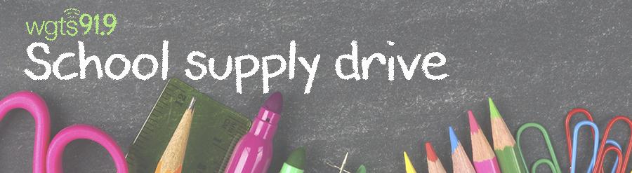 school supply drive banner