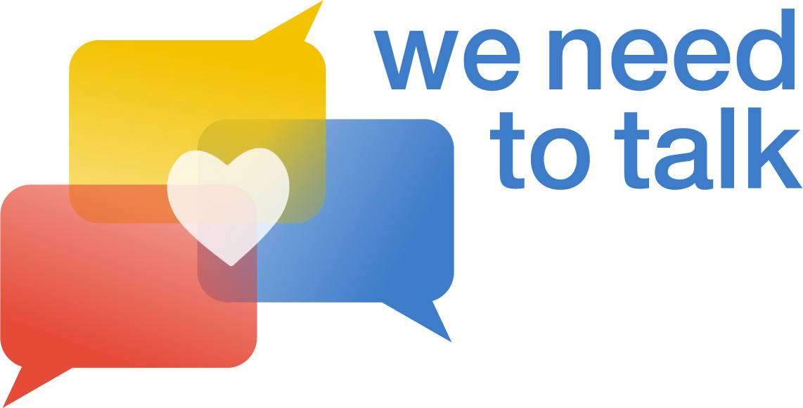 we need to talk - podcast banner