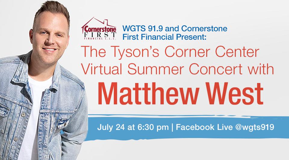 matthew west - concert banner