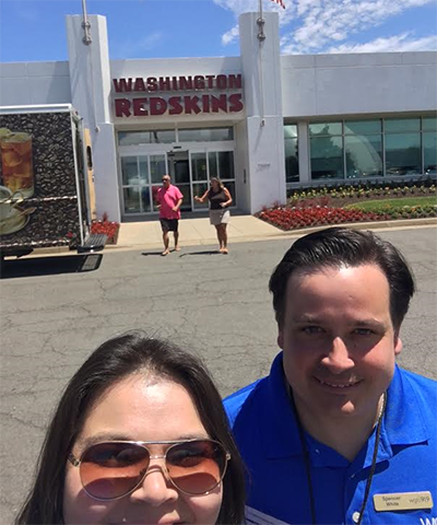blanca and spencer at redskins park