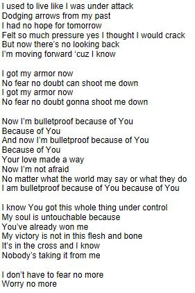 bulletproof-lyrics