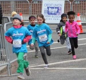 cherry blossom kids run