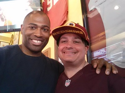shaun alexander with spencer white of wgts 91.9