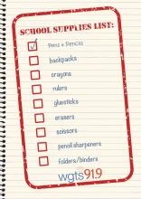 school supply checklist